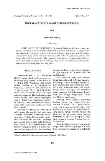 Oseana, Volume X, Nomor 3 :106-112, 1985. ISSN 0216-1877 ...