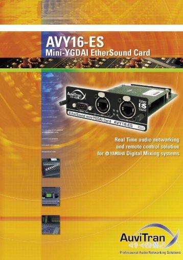 AVY-16ES100 Brochure 651.17KB - Yamaha Commercial Audio