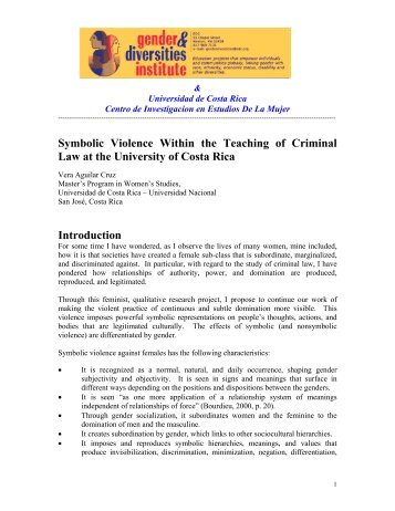 Symbolic Violence Within the Teaching of Criminal Law at the ...