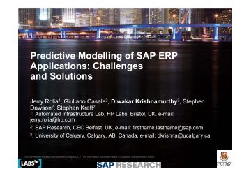 Predictive Modelling of SAP ERP Applications - home page ...