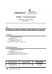 Laboratoire 5 - Cours - École Polytechnique de Montréal
