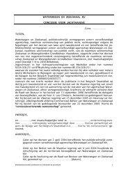 Standaardconcessie voor jachthavens - Waterwegen en Zeekanaal