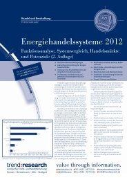 Energiehandelssysteme 2012 - trend:research