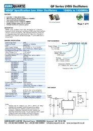 'HDQF' Specification Low Jitter Oscillators