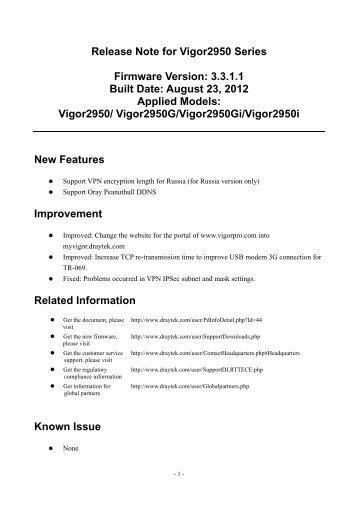 DrayTek Vigor2830n (Annex B 2111302) Router 64 BIT Driver