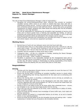 membership manager â job spec d ad