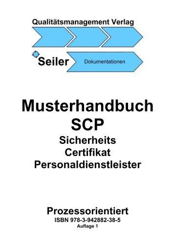 Musterhandbuch SCP