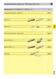 03 . 01 Inhaltsverzeichnis Kapitel 03 – DIN Power (bis 15 A ...