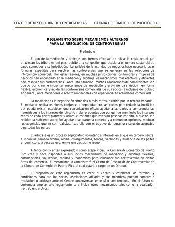 Reglamento - Cámara de Comercio de Puerto Rico