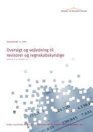 Oversigt og vejledning til revisorer og ... - Erhvervsstyrelsen