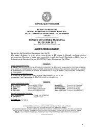 Conseil municipal du 28 juin 2012 - Franconville
