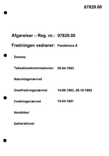 07829.00 Afgørelser - Reg. nr.: 07829.00 ... - Naturstyrelsen