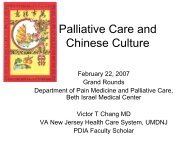 Palliative Care and Chinese Culture - Department of Pain Medicine ...
