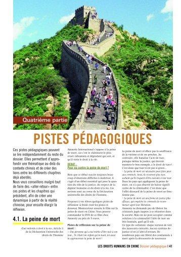 PISTES PÉDAGOGIQUES - AMNESTY INTERNATIONAL.be