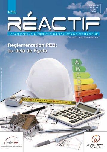 Réglementation PEB : au-delà de Kyoto - ProFacility.be