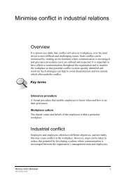 Minimise conflict worksheet - PDF - Flexible Learning Toolboxes