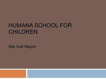 Site Visit Report (Jan 2011)