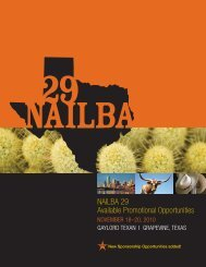 NAILBA 29 Available Promotional Opportunities