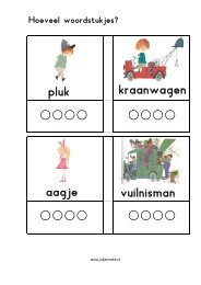 Werkblad; hoeveel woordstukjes - Juf Janneke
