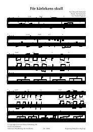 10648 För kärlekens skull - Gehrmans Musikförlag