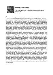 Prof. Dr. Jürgen Werner - Reinhard-Mohn-Institut