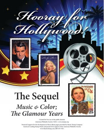 Hooray for Hollywood the Sequel - American Philatelic Society