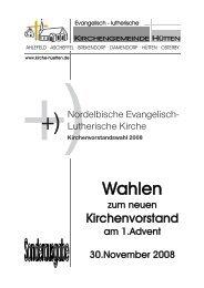 Sonderausgabe KV-Wahl Nov08.pub - Kirchengemeinde Hütten