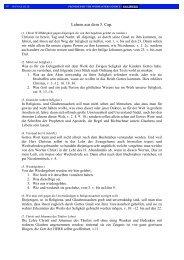 Lehren aus dem 3. Cap. - Transkription des Johannes Evangeliums ...