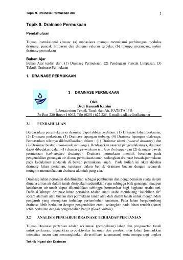 Topik 9 Kuliah-drainase permukaan-dkk.pdf