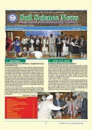 March, 2013, Vol. 14 - Soil Science Society of Pakistan