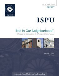 """Not In Our Neighborhood"": - Institute for Social Policy and ..."