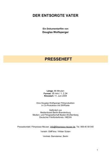 PRESSEHEFT DER ENTSORGTE VATER