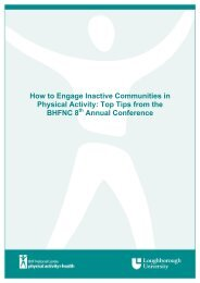 Engaging Inactive Communities - BHF National Centre - physical ...