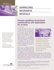 Issue 1, Volume 9 - October / November 2009 - Alberta Gambling ...
