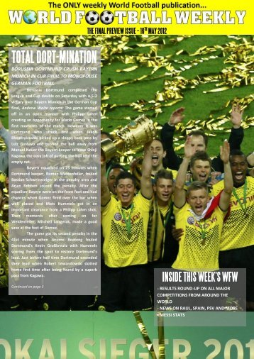 7th and final Preview Edition - WORLD FOOTBALL WEEKLY