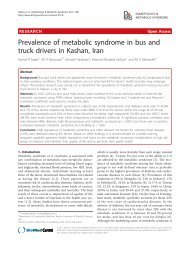 Prevalence of metabolic syndrome in bus and truck drivers in ...
