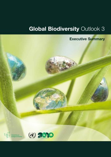 Global Biodiversity Outlook 3 - Convention on Biological Diversity