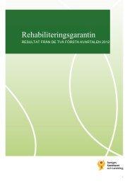 Rehabiliteringsgarantin utfall Q1 och Q2 2012 - Landstinget Gävleborg