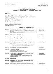 Lehrgangsprogramm - WTB