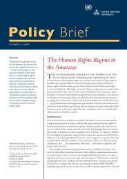 The Human Rights Regime in the Americas - United Nations University