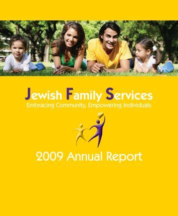 Annual Report 2009.indd - Jewish Family Services