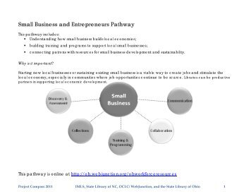 Small Business and Entrepreneurs Pathway - WebJunction