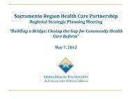 Regional Strategic Planning Meeting Presentation, May 7, 2012 (PDF)