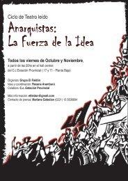 Ciclo de Teatro leído - Federacion Libertaria Argentina