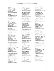 NCQA DPRP Recognized Physicians (as of 12/31/2009) - Hospira