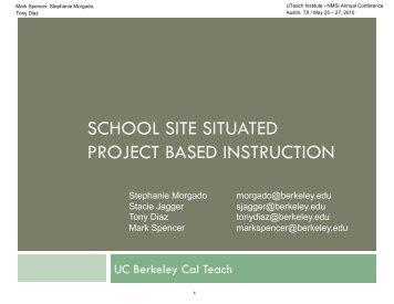 Spencer CalTEach PBI presentation - The UTeach Institute