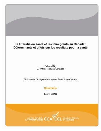 La littératie en santé et les immigrants au Canada : Déterminants et ...