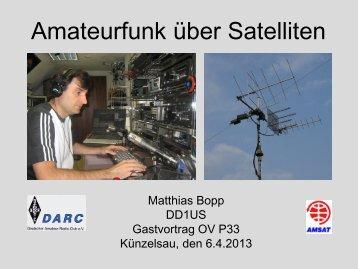 Amateurfunk über Satelliten - DD1US