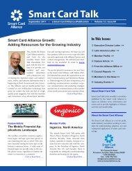 Download PDF version of the September Smart Card Talk.