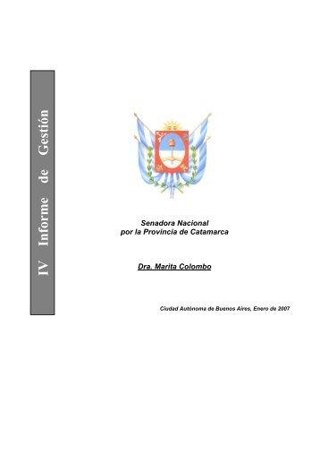 IV Informe de Gestión - Honorable Senado de la Nación